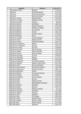 Lista de electores tachados