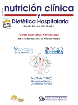 Reunión anual SEDCA `Nutrición 2012`