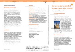 las torres de la catedral Notre-Dame de Chartres