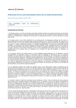 Ordenanza de los usos del paisaje urbano de la ciudad de Barcelona