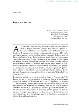 Borges y el nazismo