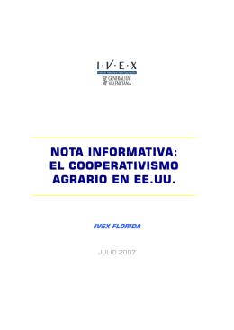 NOTA INFORMATIVA: EL COOPERATIVISMO AGRARIO EN EE.UU.