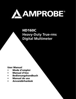HD160C Heavy-Duty True-rms Digital Multimeter