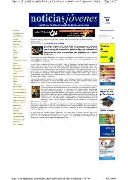 Noticiasjovenes.com 14.02.09