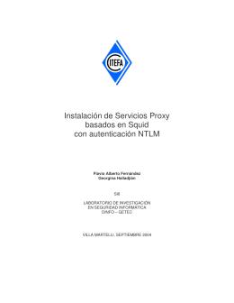 Instalación de Servicios Proxy basados en Squid con autenticación