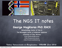 The NGS IT notes