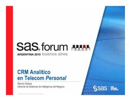 CRM Analítico en Telecom Personal