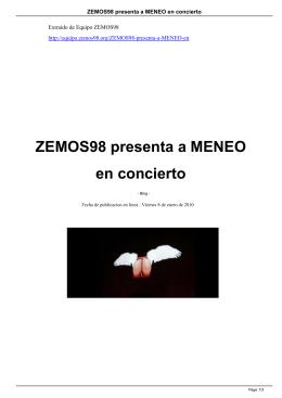 ZEMOS98 presenta a MENEO en concierto
