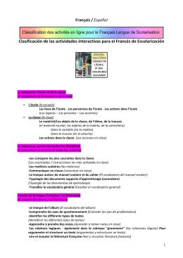 sommaire des activités en ligne français