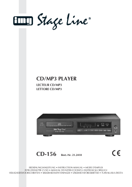 CD/MP3 PLAYER - Elektronik Lavpris ApS