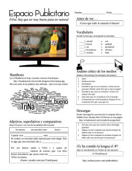 Espacio Publicitario: Aprender español con anuncios