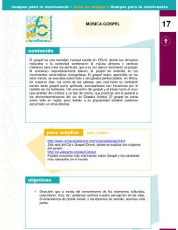 MÚSICA GOSPEL - Fundación Pluralismo y Convivencia