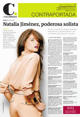 CONTRAPORTADA Natalia Jiménez, poderosa