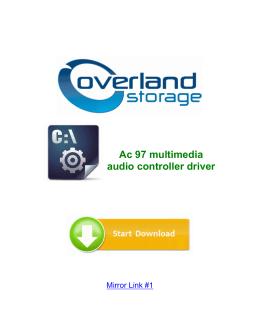 Ac 97 multimedia audio controller driver
