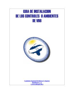 Manual de Instalación de los Controles o Ambientes VB6