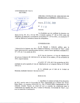 TALCA, 2 3 ENE. 2013 N° 1 10