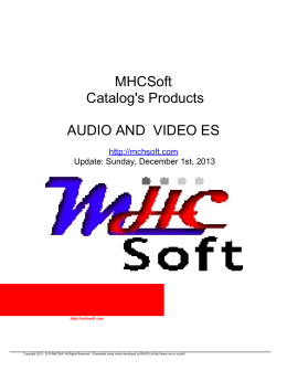MHCSoft Catalog`s Products AUDIO AND VIDEO ES