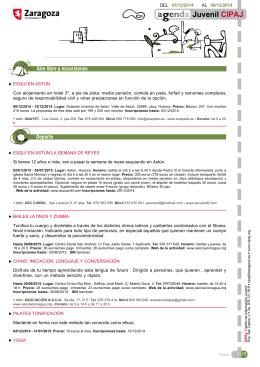 DEL 03/12/2014 AL 09/12/2014 ESQUÍ EN ASTÚN Con alojamiento