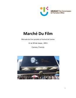 Informe Cannes 2011 - Cámara Audiovisual del Uruguay