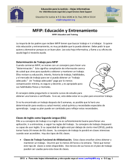 MFIP: Educación y Entrenamiento
