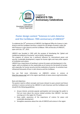 "Poster design contest ""Sciences in Latin America and the"