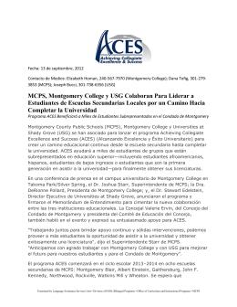 MCPS, Montgomery College y USG Colaboran Para Liderar a