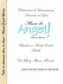 Taller de Artesanía Alma de Ángel – Mérida Estado Mérida