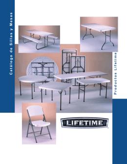 Catálogo de Sillas y Mesas Productos Lifetime