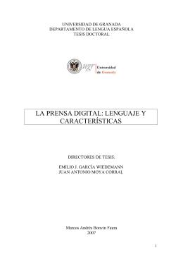 la prensa digital: lenguaje y características