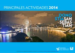Principales actividades 2014