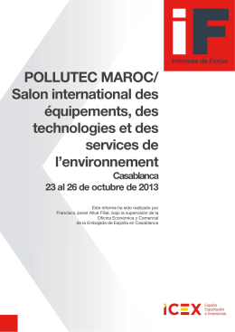 Informe de feria Pollutec Maroc 2013