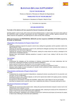 Europass  Certificate Supplement