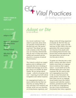 issue pdf - Episcopal Church Foundation Vital Practices