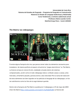 The Matrix: los videojuegos