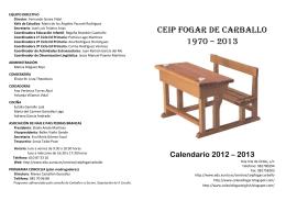CEIP FOGAR DE CARBALLO 1970 – 2013