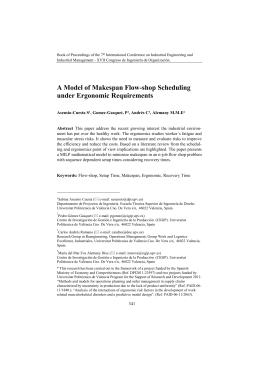 A Model of Makespan Flow-shop Scheduling under Ergonomic