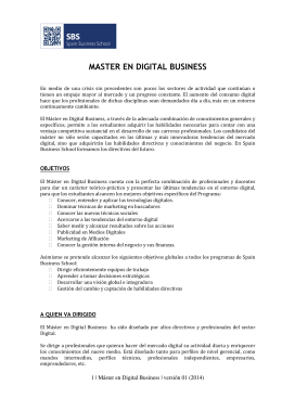 MASTER EN DIGITAL BUSINESS