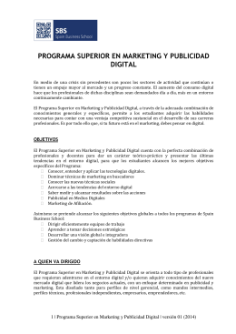 PROGRAMA SUPERIOR EN MARKETING Y PUBLICIDAD DIGITAL