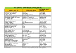 estudiantes asignados taller iii (796) 2013