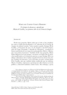 Un tiempo de añoranza y aprendizaje: María de Castilla y sus