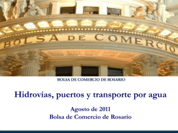 Hidrovías puertos y transporte por agua Agosto 2011 Final