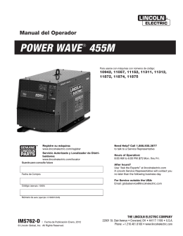 POWER WAVE® 455M - Lincoln Electric