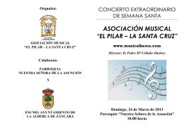 """ASOCIACIÓN MUSICAL """"EL PILAR – LA SANTA CRUZ"""""""