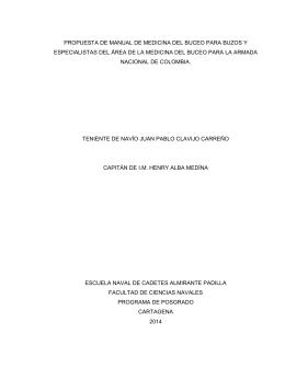 PROPUESTA DE MANUAL DE MEDICINA DEL BUCEO PARA