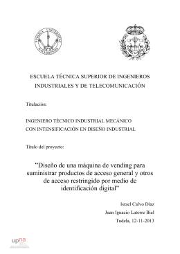 """""""Diseño de una máquina de vending para - Academica-e"""