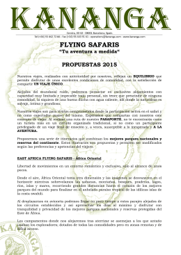 FLYING SAFARIS - Kananga y Ambar