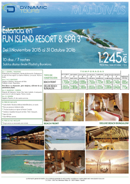 Estancia en FUN ISLAND RESORT & SPA 3*