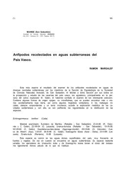 Anfípodos recolectados en aguas subterráneas del País Vasco.