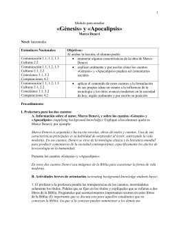 "Appendix C: Teaching Module for ""Génesis"" and ""Apocalipsis"""