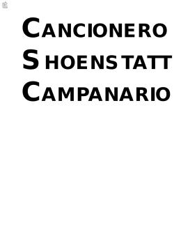 CANCIONERO SHOENSTATT CAMPANARIO